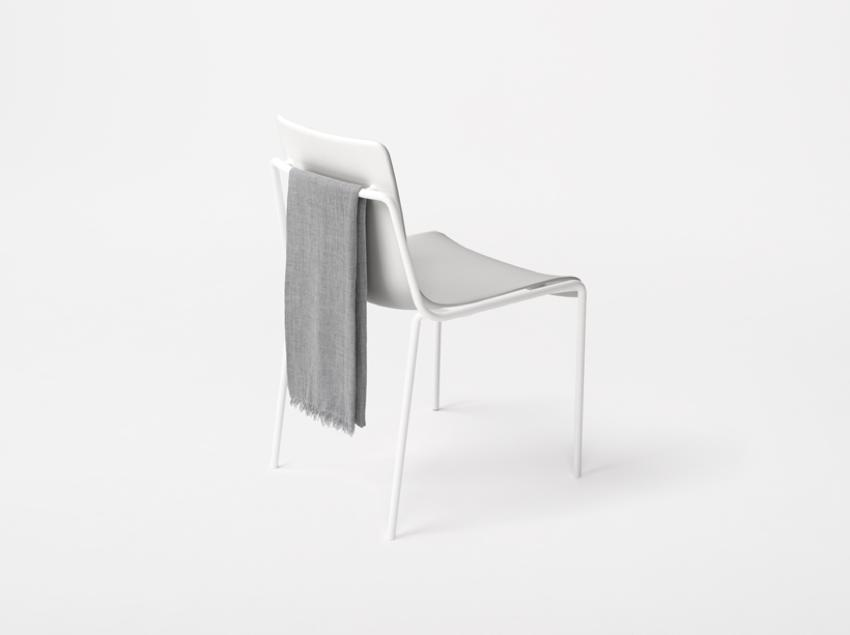 Offset frame Chair by Nendo